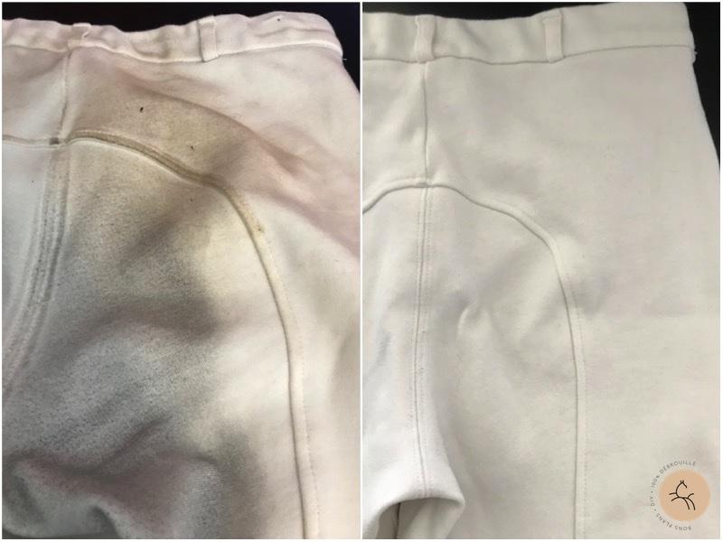 nettoyer pantalon blanc cheval