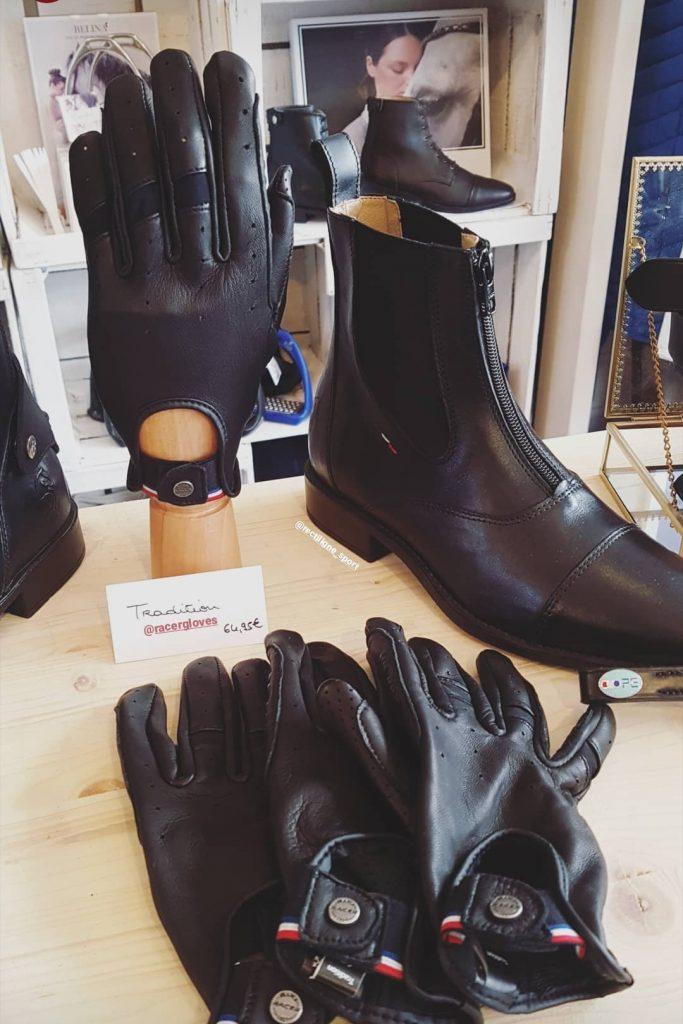gants et boots d'équitation