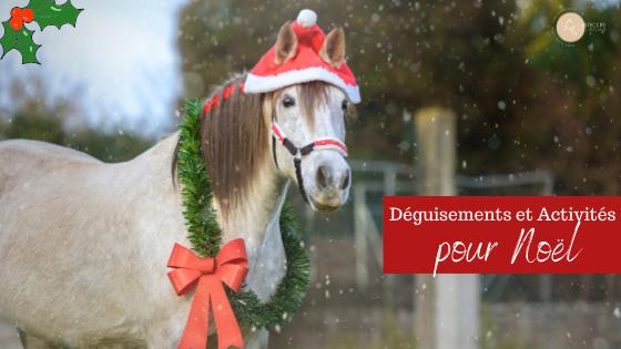 Noel cheval déguisement activités poney club