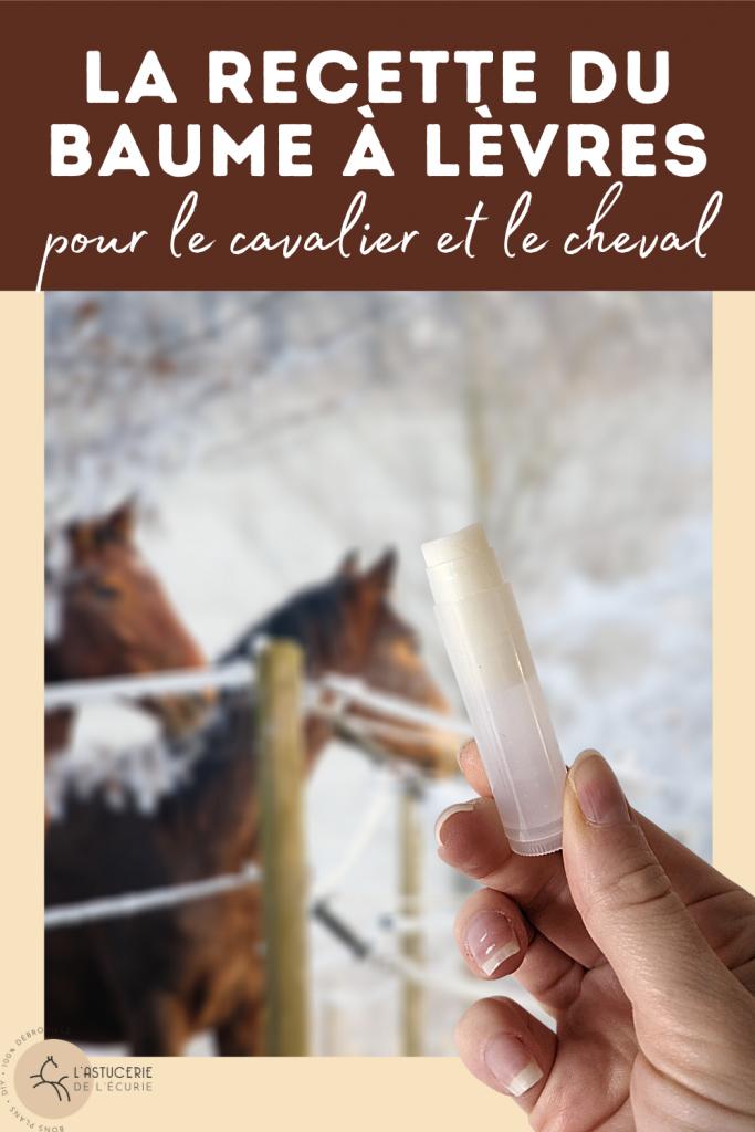 baume à lèvres maison pour le cavalier et les commissures du cheval
