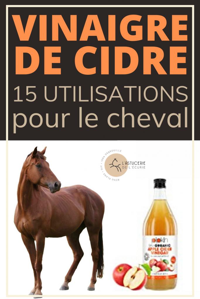 vinaigre de cidre pour le cheval