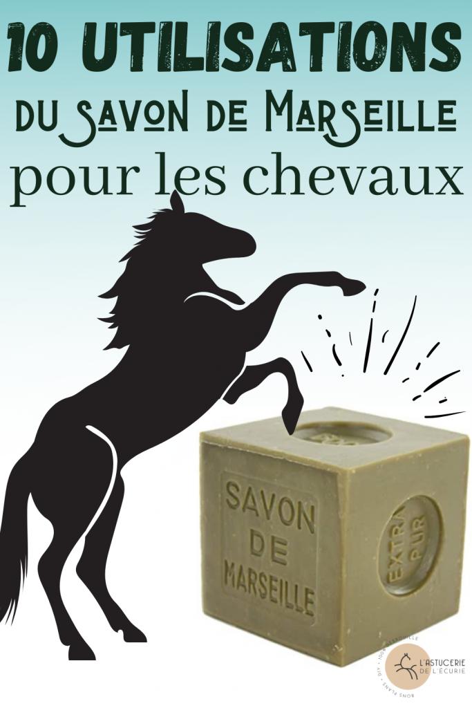 Comment utiliser le savon de Marseille avec un cheval