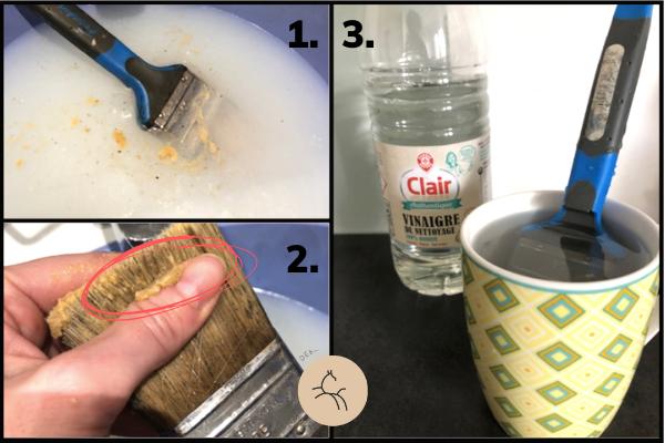 comment nettoyer un pinceau gras