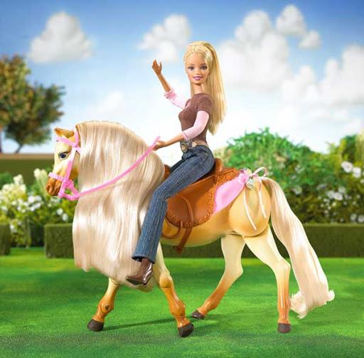 Barbie à cheval