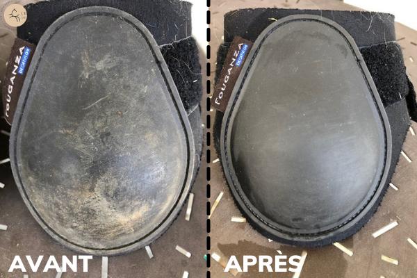 astuce pour nettoyer les protections du cheval naturellement