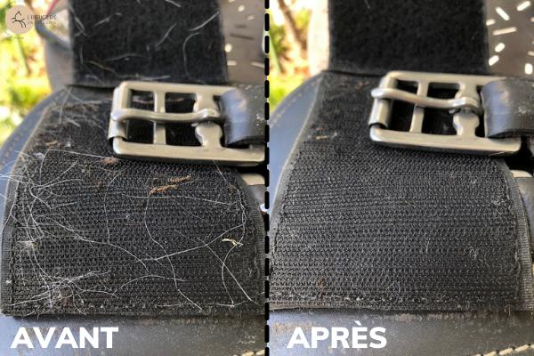 scratch noir sale et propre avant après