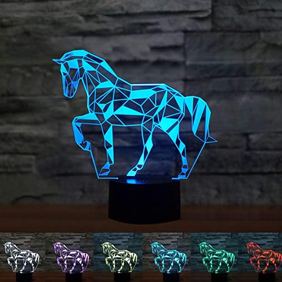 idée cadeau cheval lumineux