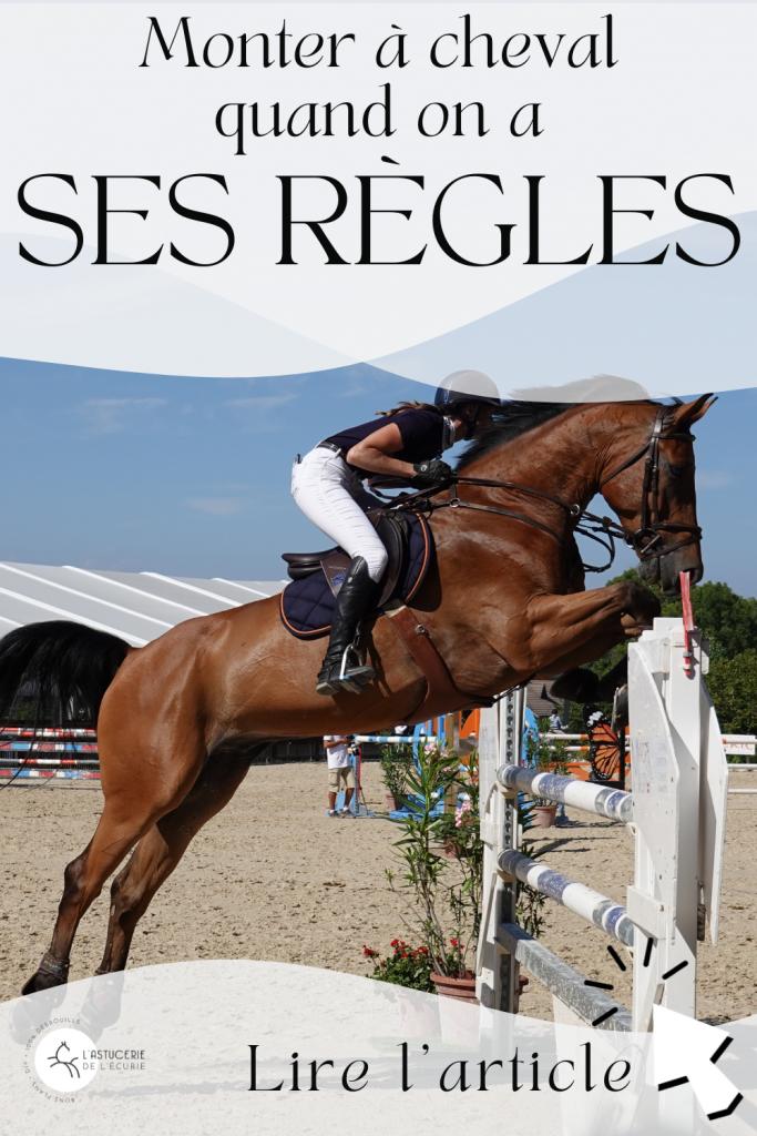 Conseils pour monter à cheval quand on a ses règles