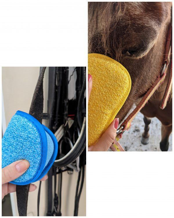 éponge pansage cheval